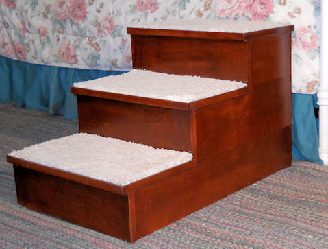 Triple Hardwood Pet Step