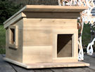 Cedar Outdoor Cat Shelter