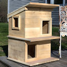 Double Deck Cat Shelter House