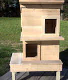Rasied Double Deck Cat Shelter House