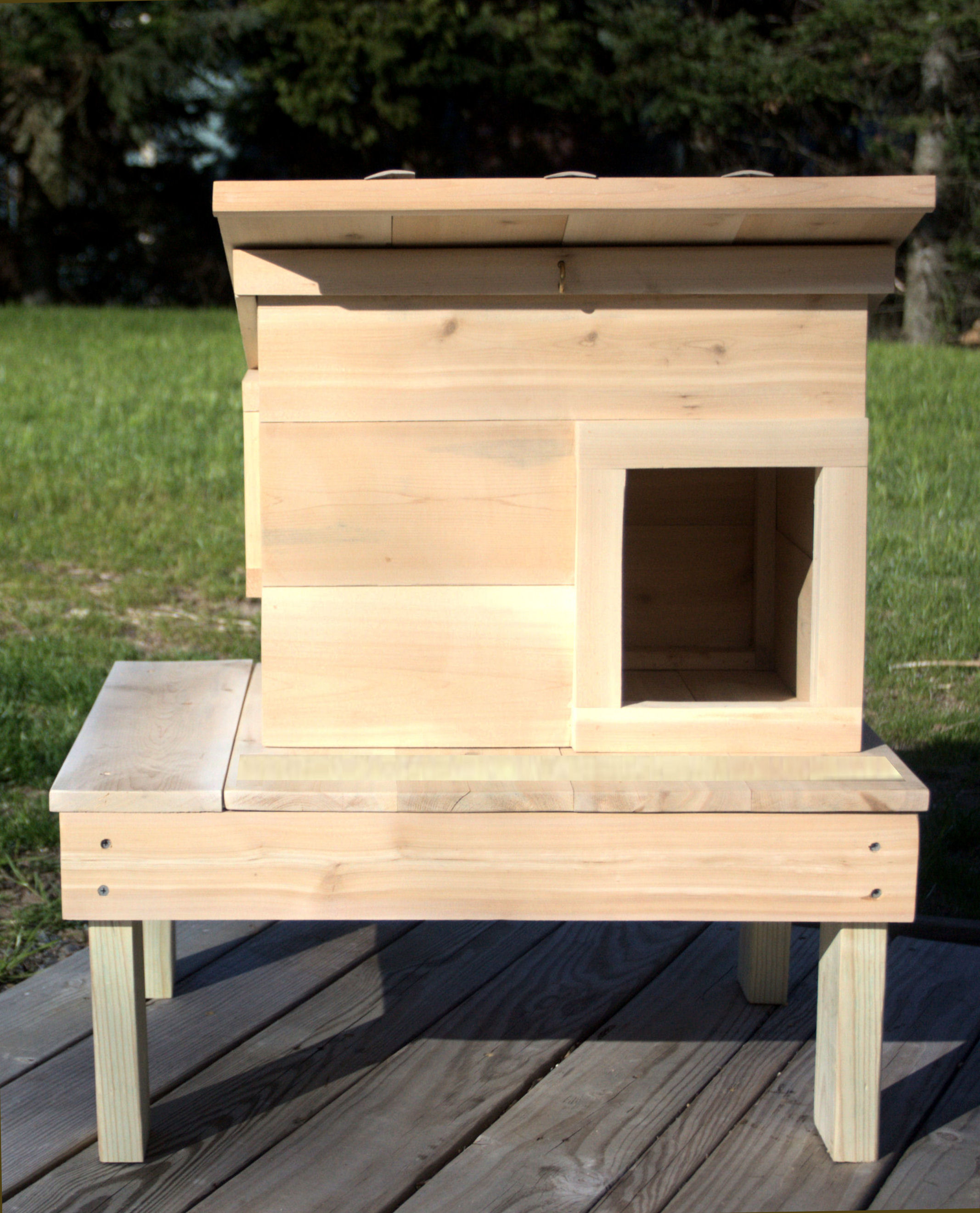 Raised Cedar Cat House