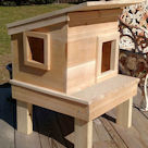 Raised Outdoor Cat House