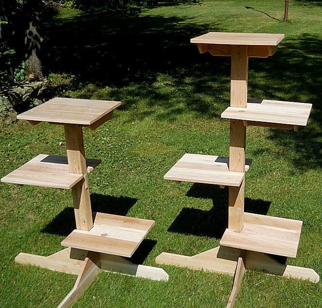 Outdoor Cedar Cat Trees From Touchstone Pet