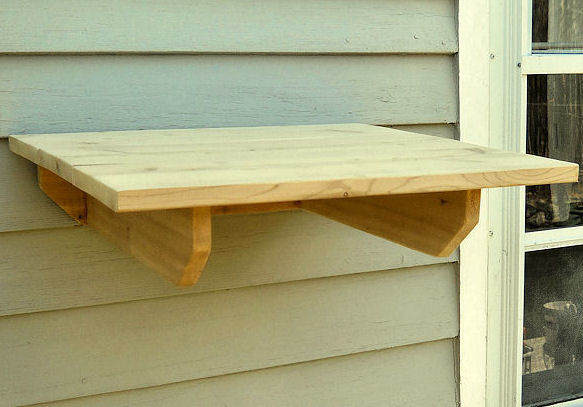 Cedar Outdoor Cat Shelves