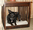 Dog Bed and End Table Combination