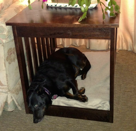 Dog bed end table furniture - Table at the end of the bed ...