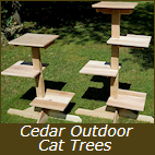 Cedar Outdoor Cat Trees